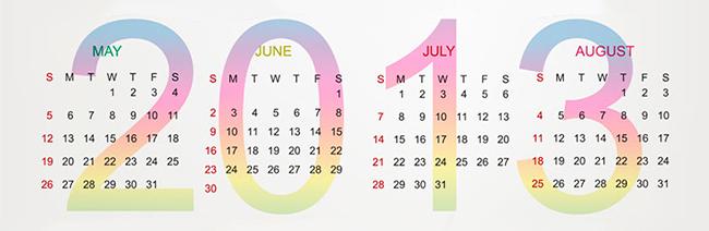 Calendário do Varejo 2013
